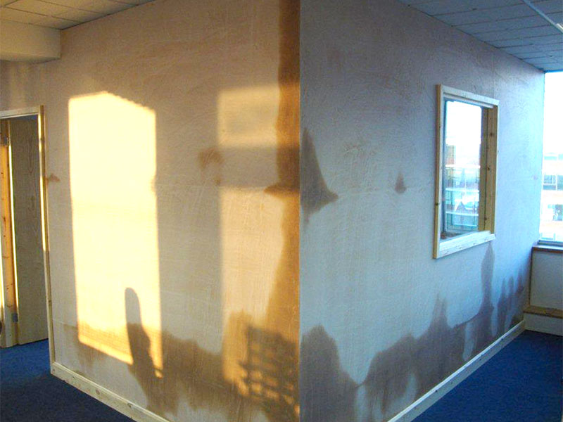 partition wall – skimmed