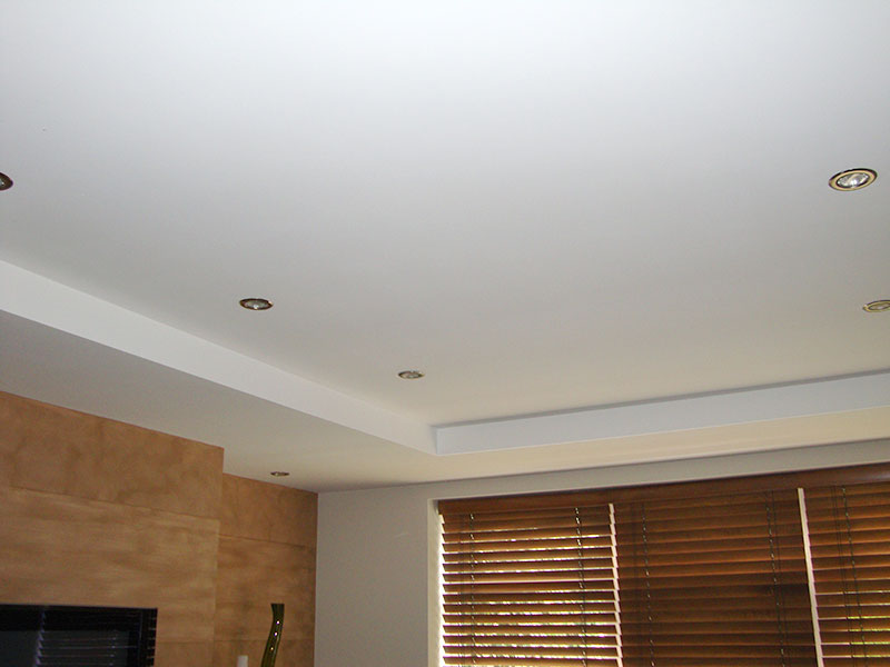 suspended ceiling with recessed lights